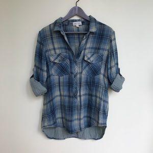 Cloth & Stone Plaid Rockland Shirt L